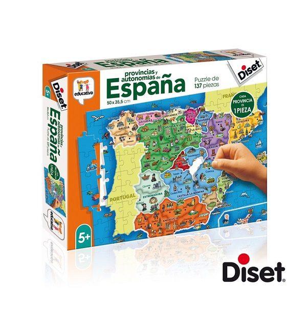 Diset provincias de España