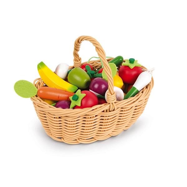 Cesta 24 frutas janod