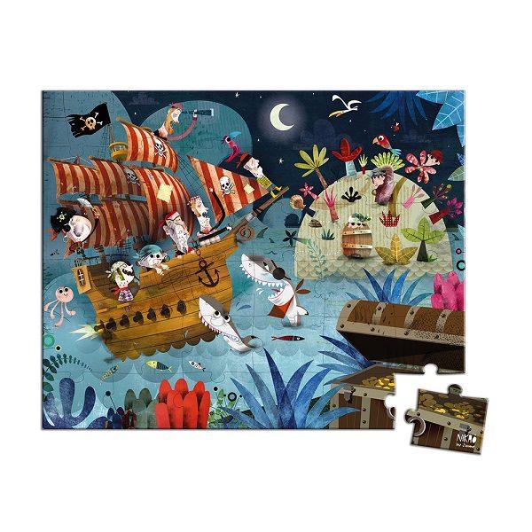 Puzzle maletin el tesoro pirata