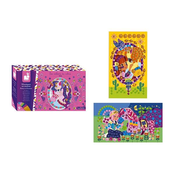 Mosaicos de goma unicornios