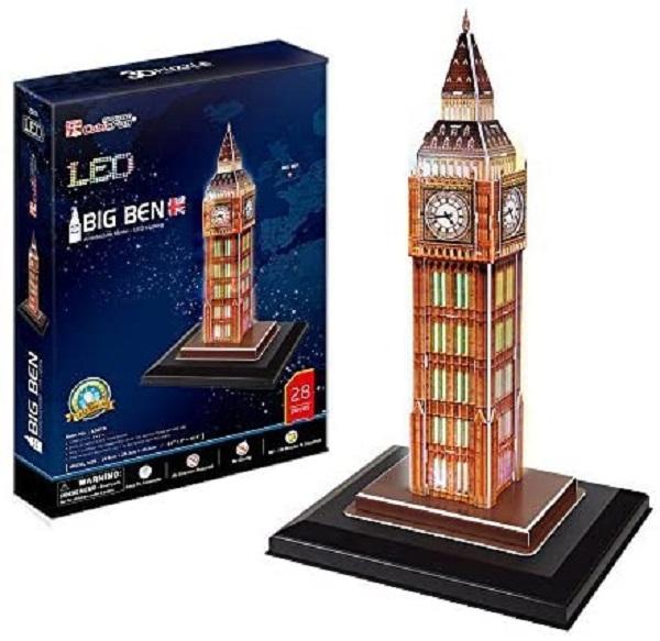 Puzzle 3D big ben con led