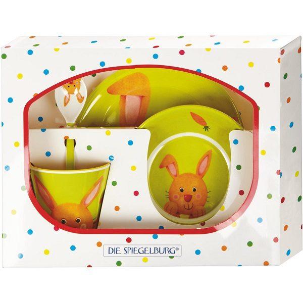 set vajilla infantil conejo