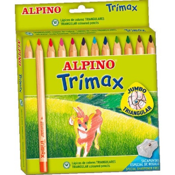 12 lapices jumbo triangulares