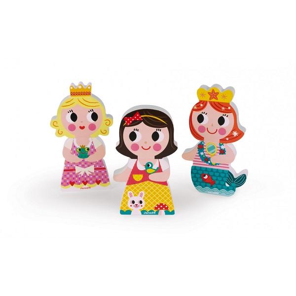 Princesas magneticas de madera