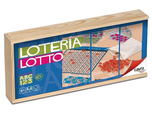 Bingo en caja de madera