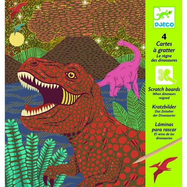 Cartas para rascar dinosaurios