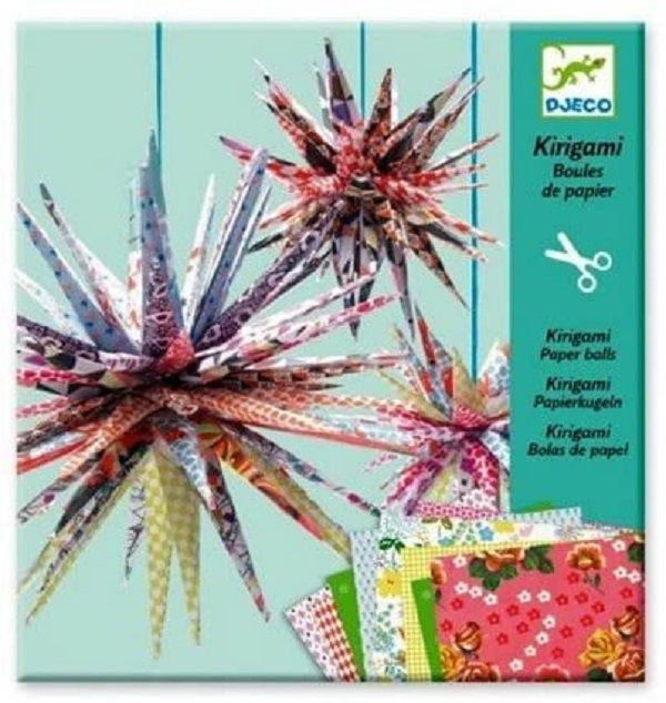 Kirigami bolas de papel