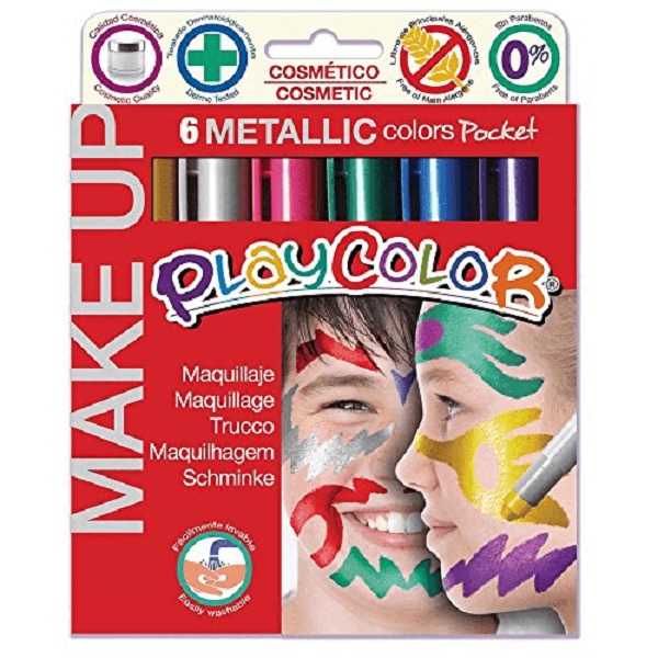 Pintura para la cara metalizada