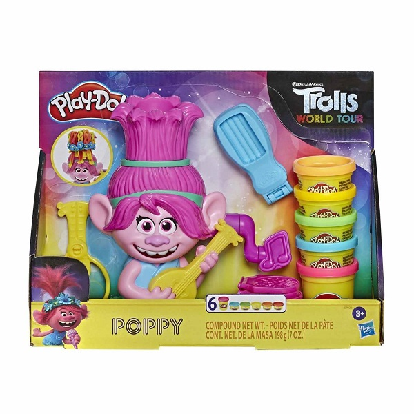 Trolls poppy play-doh