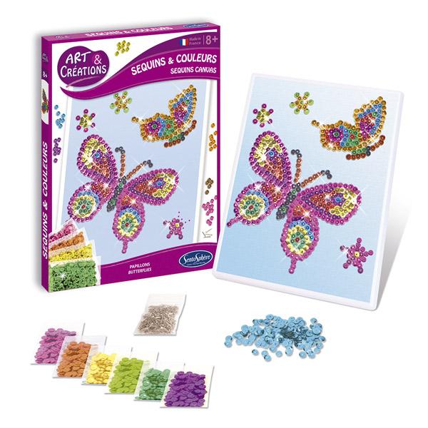 Lentejuelas y colores mariposa