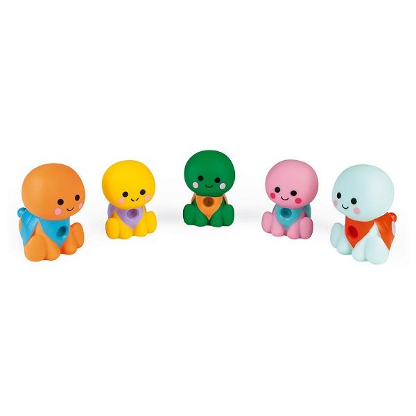 Familia de tortugas para le baño