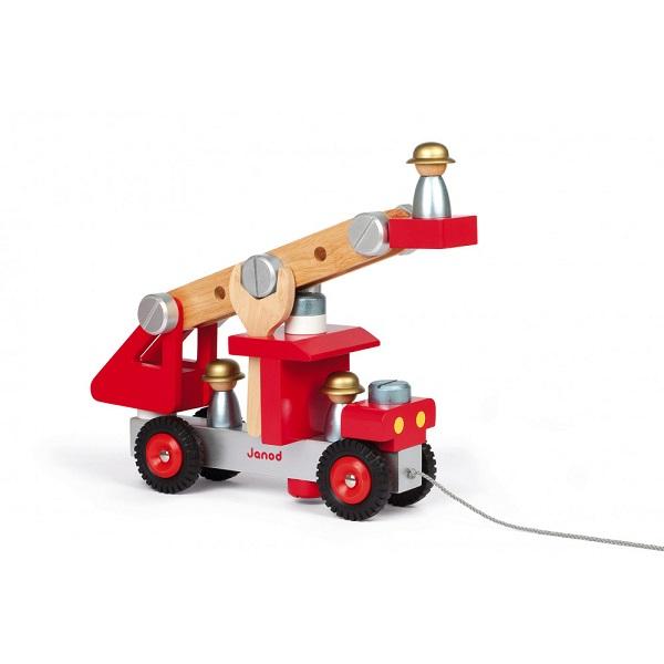 Camion de bomberos de madera janod