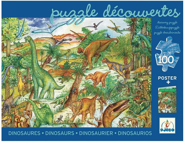 Puzzle observacion dinosaurios djeco