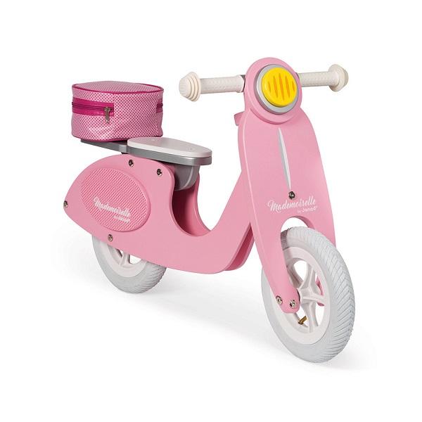 scooter de madera rosa
