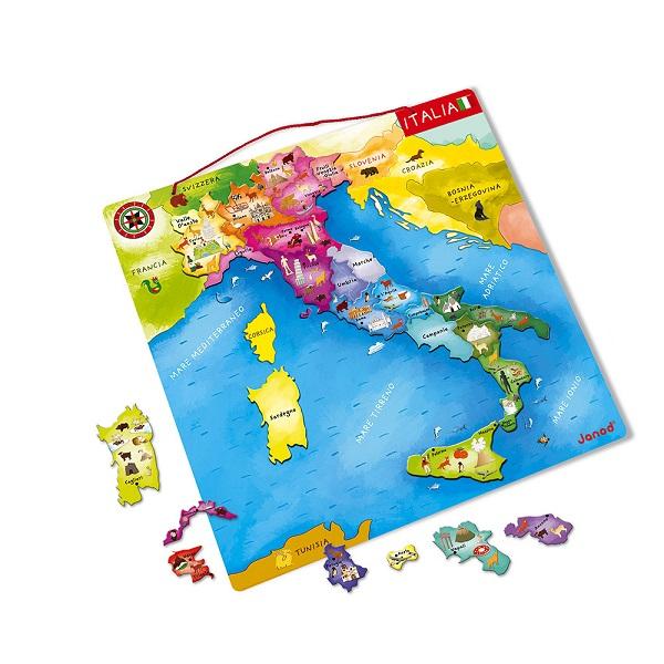 Mapa magnetico de Italia