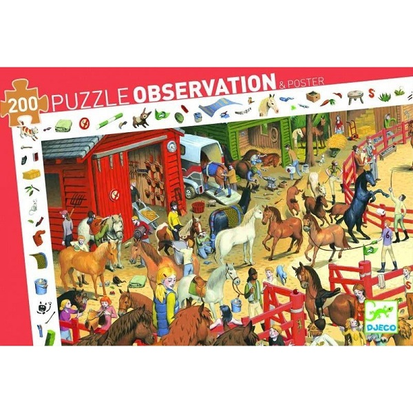 Puzzle equitacion djeco