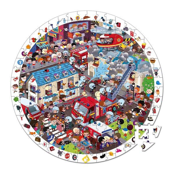 Puzzle de observacion bomberos