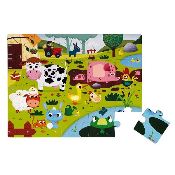 Puzzle tactil animales de la granja