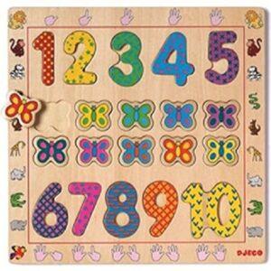 Puzzle encajable del 1 al 10 Djeco