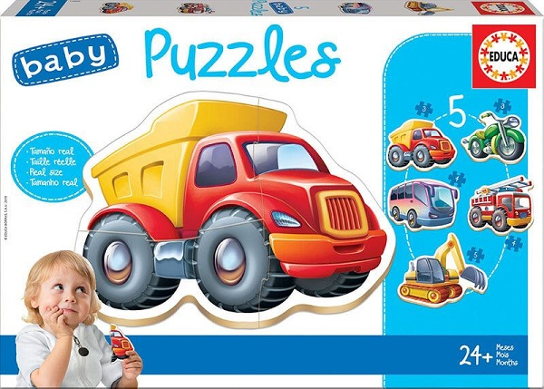 Baby puzzles vehiculos Educa