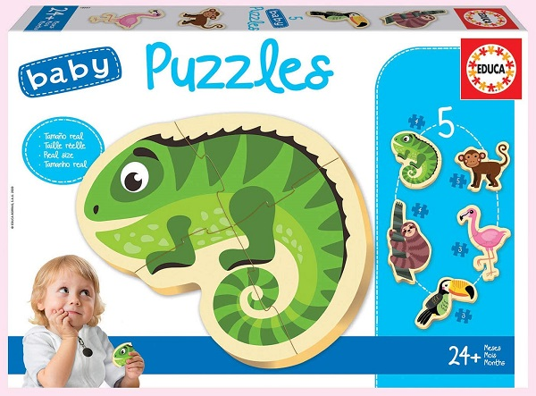 Baby puzzles animales tropicales Educa