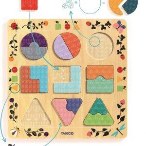 Puzzle encajable ludigraphic