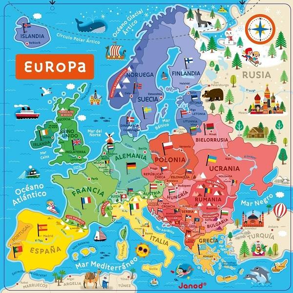 Mapa de Europa magnetico Janod