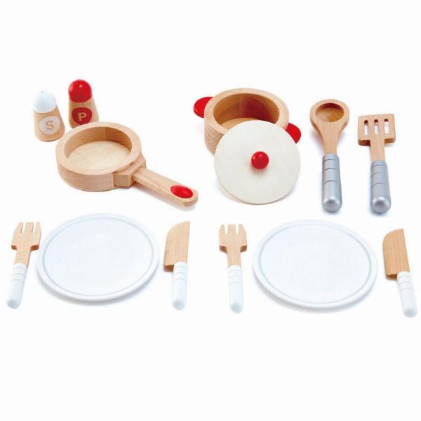 Hape set de utensilios para cocinitas