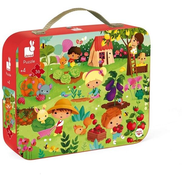 Puzzle maletin el huerto Janod