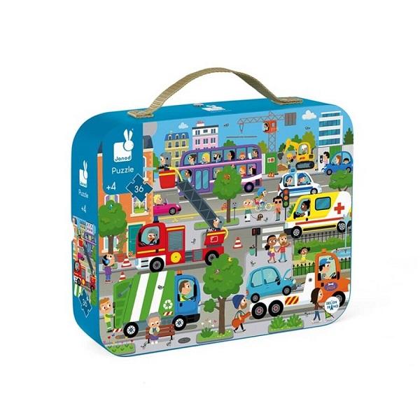 Puzzle maletin la ciudad Janod