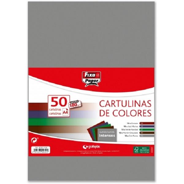 Pack 40 cartulinas colores intensos