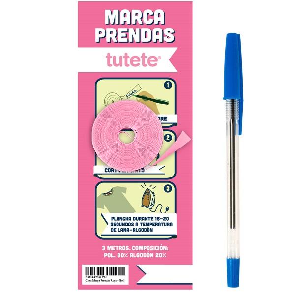Cinta marca prendas Tutete