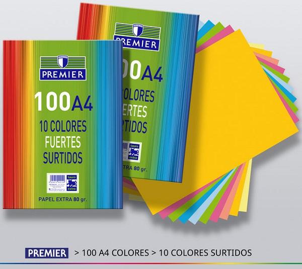 Paquete 100 hojas A4 colores